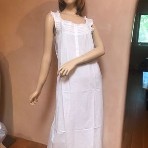 Brand New Lelene White Eyelet Cotton Maxi Dress XL